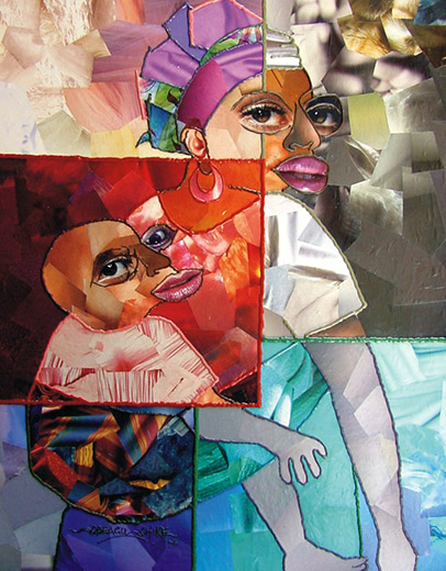 Chike-Obeagu-Mother-and-Child-60x72cm-Mixed-Media-2006